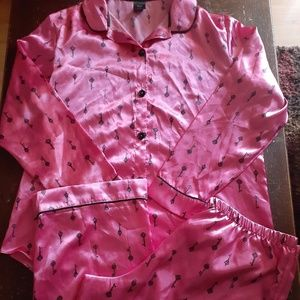 Women's Silky Pink Pajamas